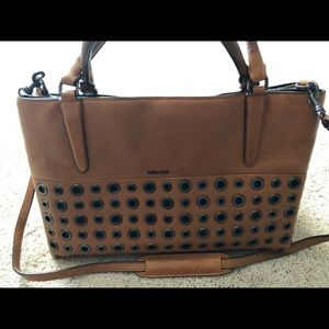 Coach soft leather borough bag with grommets 32339